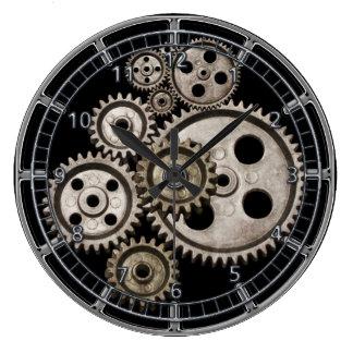 steampunk übersetzt Vintage Maschinenuhr des Große Wanduhr