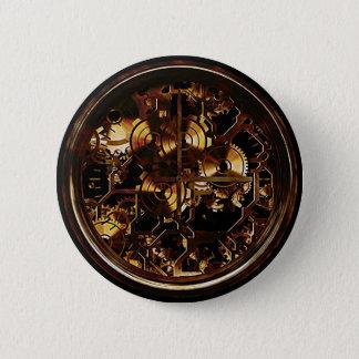 Steampunk Uhr-Gänge Runder Button 5,7 Cm