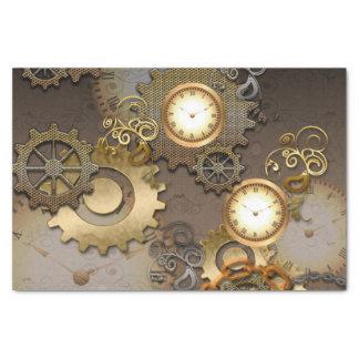 Steampunk, Uhren und Gänge Seidenpapier