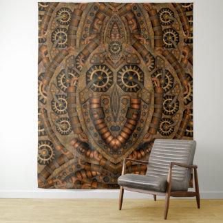 Steampunk Uhrwerk-Vintage Wand-Tapisserie Wandteppich
