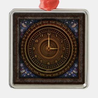 Steampunk Vintages altmodisches kupfernes Uhrwerk Silbernes Ornament
