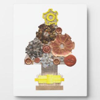 Steampunk Weihnachtsbaum-Gestell Fotoplatte