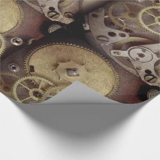 Steampunk wickeln industrielle geschenkpapier