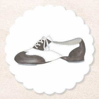 Stechen Sie Schuh-Druck-Tanz-Lehrer an, den Tänzer Untersetzer