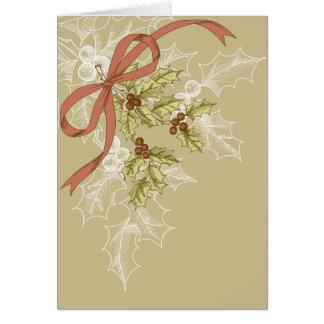 Stechpalme-Tägige Skizze-Stechpalmen-Beeren und Karte