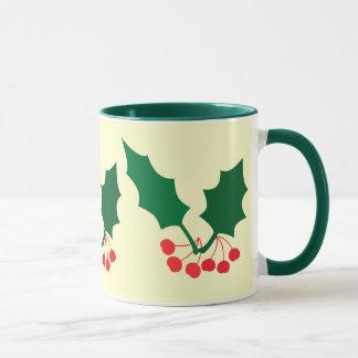 Stechpalme und Beeren Tasse