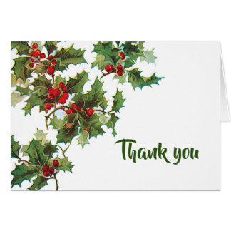 """Stechpalme und Efeu """"dankt Ihnen """" Karte"""
