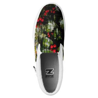 Stechpalmen-Beeren-Beleg auf Schuhen Slip-On Sneaker