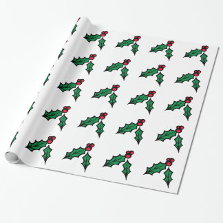 Stechpalmen-Beeren-Packpapier Geschenkpapier