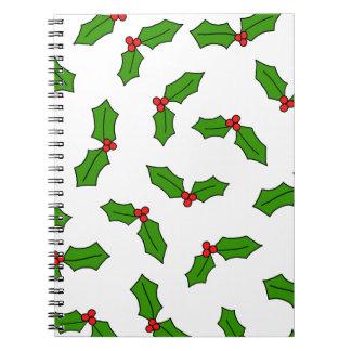 Stechpalmen-Blätter Notizblock