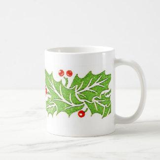Stechpalmen-Blätter-und Beeren-WeihnachtsTasse Kaffeetasse