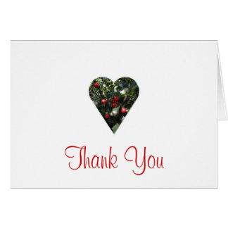 Stechpalmen-Herz danken Ihnen zu kardieren Karte