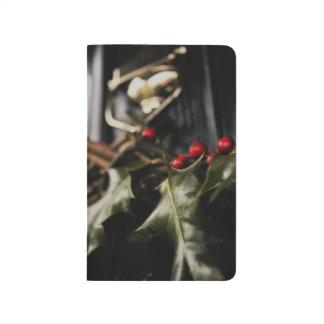 Stechpalmen-Kranz Taschennotizbuch