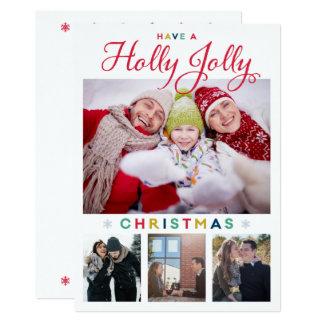 Stechpalmen-lustige Weihnachtskarte Karte