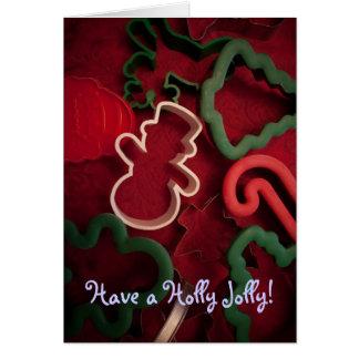 Stechpalmen-lustiges Weihnachten Karte