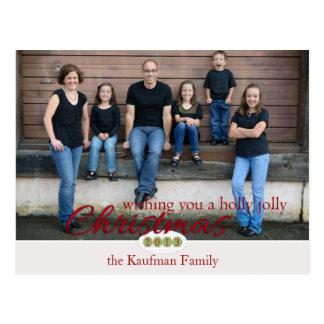 Stechpalmen-lustiges Weihnachten Postkarte