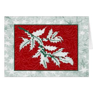Stechpalmen-und Beere Weihnachtsanmerkungskarte Karte