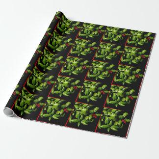 Stechpalmen- und Beeren-Packpapier Geschenkpapier