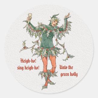 Stechpalmen-Walter-Kran-Blumen von Shakespeare Runder Aufkleber