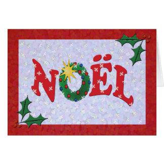 Stechpalmen-Weihnachten-Gruß Fleur de Lys Wreath Karte