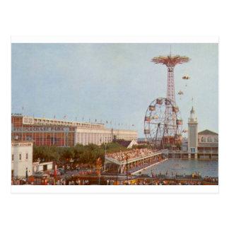 Steeplechase-Vergnügungspark, Coney Island NY Postkarte