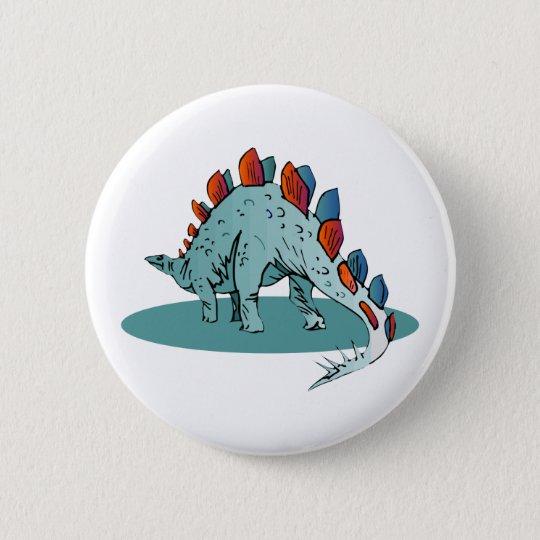 Stegosaurus (3) runder button 5,1 cm