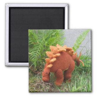 Stegosaurus-Kühlschrankmagnet Quadratischer Magnet