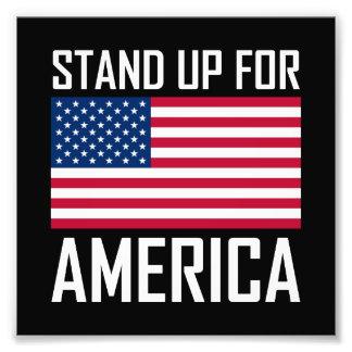 Stehen Sie oben für Amerika-Flaggen-Nationalhymne Fotodruck