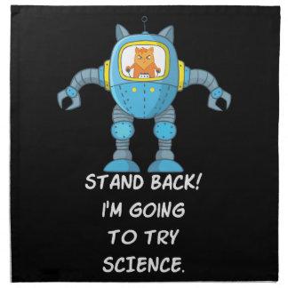 Stehen Sie zurück gehend, Wissenschafts-lustige Serviette