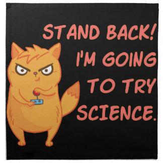 Stehen Sie zurück gehend, Wissenschafts-niedliche Stoffserviette