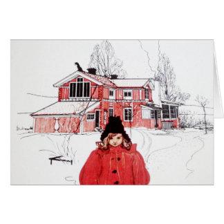 Stehend im Winter-Schnee Karte