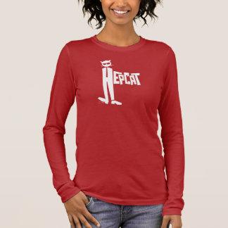 Stehend-Katze Logo Langarm T-Shirt