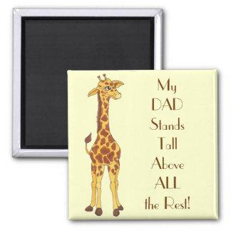 Stehende hohe Giraffe - spezieller VATI Magnet Kühlschrankmagnet