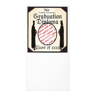 Stehendes hohes - Abschluss-Diplom-Foto-Rahmen Fotogrußkarten