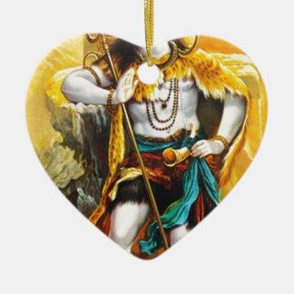 stehendes shiva keramik Herz-Ornament