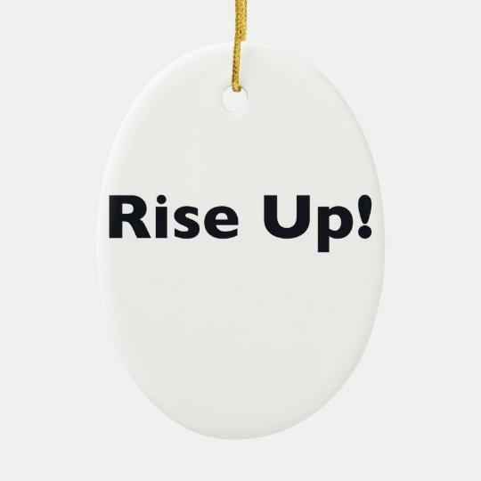 Steigen Sie oben! Ovales Keramik Ornament