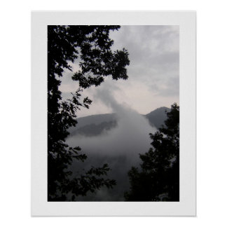 Steigender Nebel Poster
