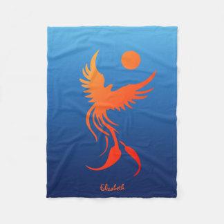 Steigendes Phoenix in der Flammen-Decke Fleecedecke