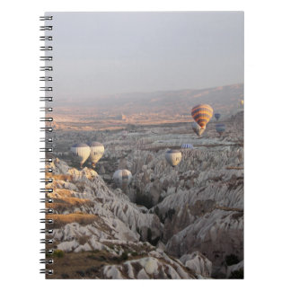 Steigt Flug Foto-Notizbuch im Ballon auf Notizblock