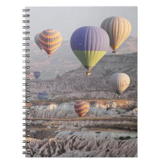 Steigt Flug Foto-Notizbuch im Ballon auf Spiral Notizblock
