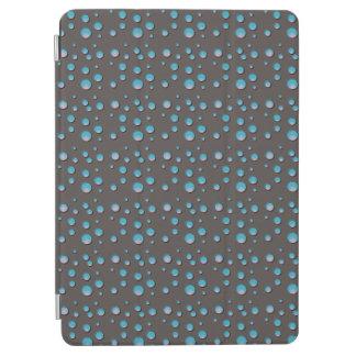 Steigungs-blaue Punkte auf Grau iPad Air Hülle