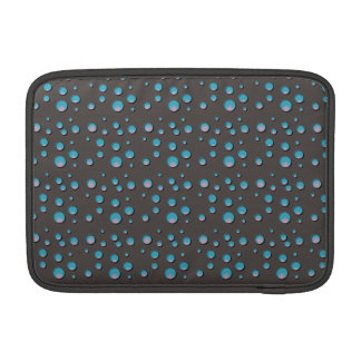 Steigungs-blaue Punkte auf Grau MacBook Air Sleeve