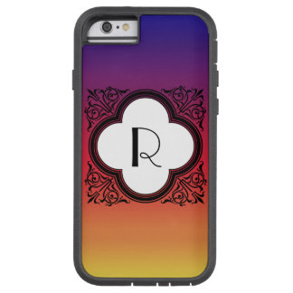 Steigungs-Noir Art-Grenzmonogramm Tough Xtreme iPhone 6 Hülle