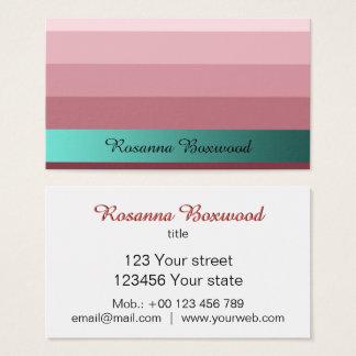Steigungs-Rosen-Rot mit aquamarinem Visitenkarte