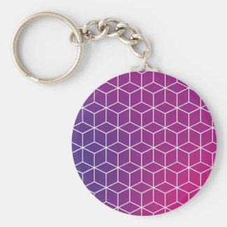 Steigungs-Würfel-Muster auf Keychain Schlüsselanhänger