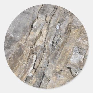 Stein Fels stone rock Runder Aufkleber