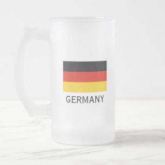 Stein-Tasse Bier der deutschen Flagge Matte Glastasse