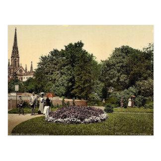 Steinbach-Quadrat und Protestantische Kirche, Postkarte