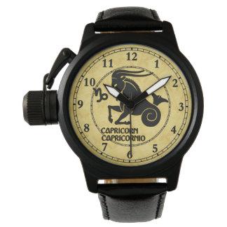 Steinbock-aller Tierkreis schreibt moderne Uhr