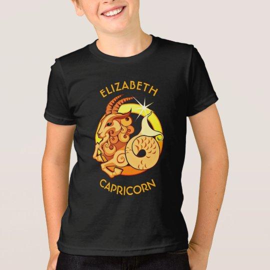Steinbock-Tierkreis-Geburtstags-Zeichen mit Ihrem T-Shirt
